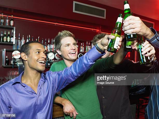 Men drinking in a bar