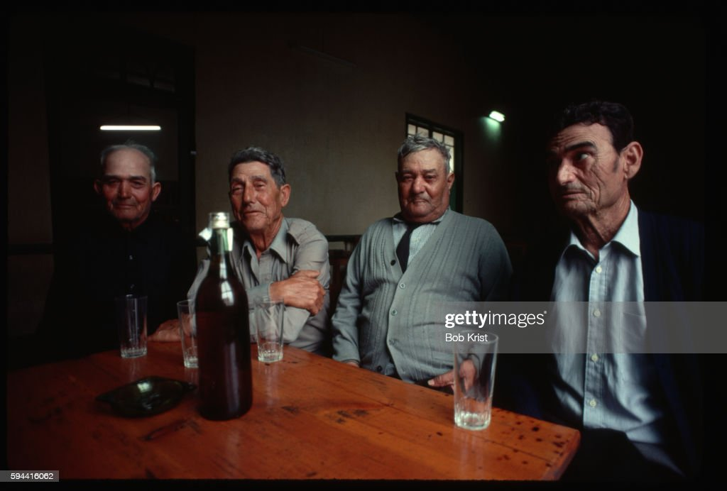 Men Drinking in Tavern
