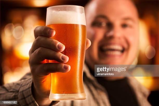 Men enjoying beer