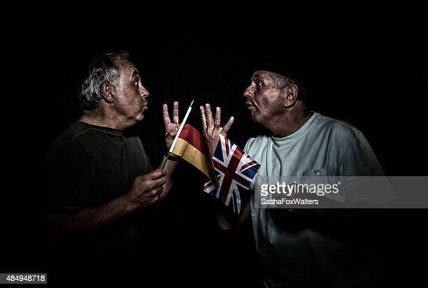 men fighting - british versus german