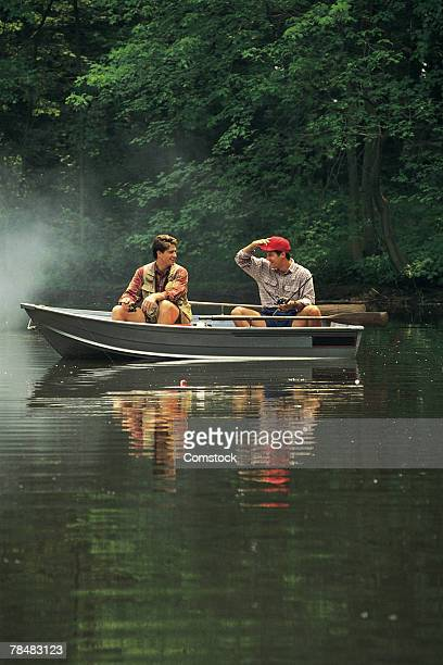 Men fishing on boat