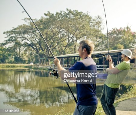 Men Fishing : Stock Photo