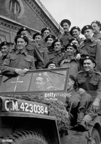 Men from a Canadian Tank Regiment in Britain