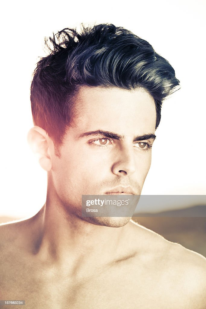 Men hairstyle : Stock Photo