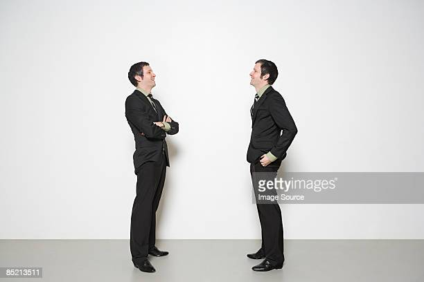 Men having conversation