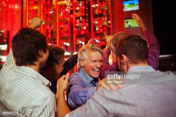 Men having fun in bar