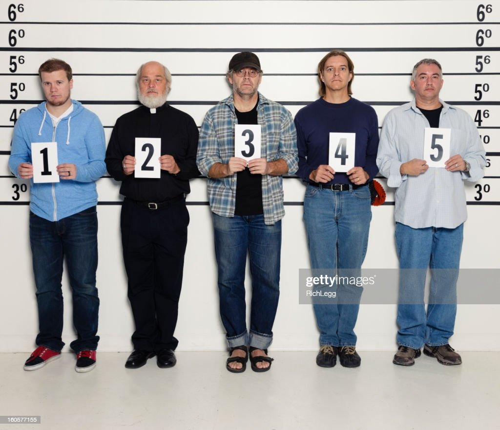 Men in a Police Lineup