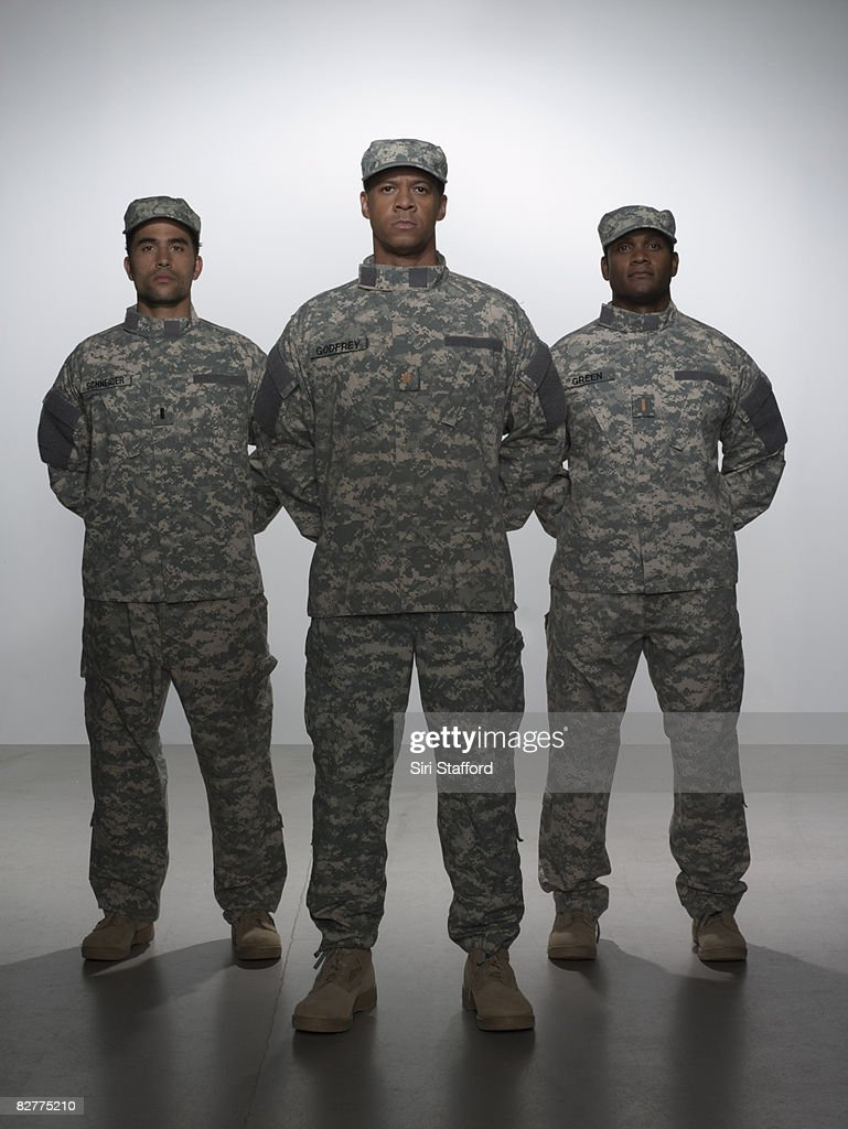 men in military uniform : Stock Photo