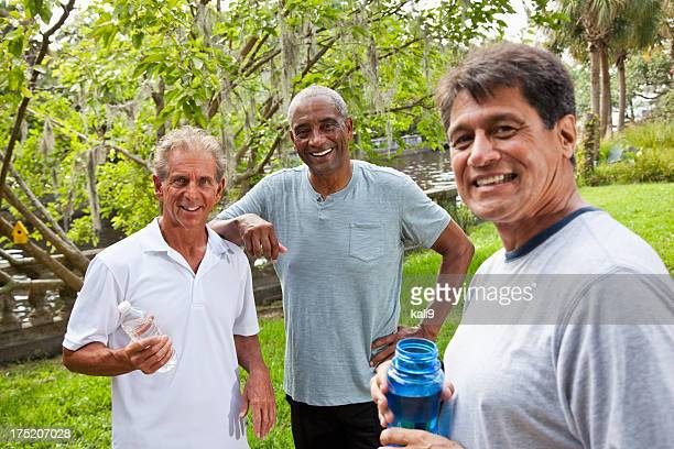 Men in park after exercising