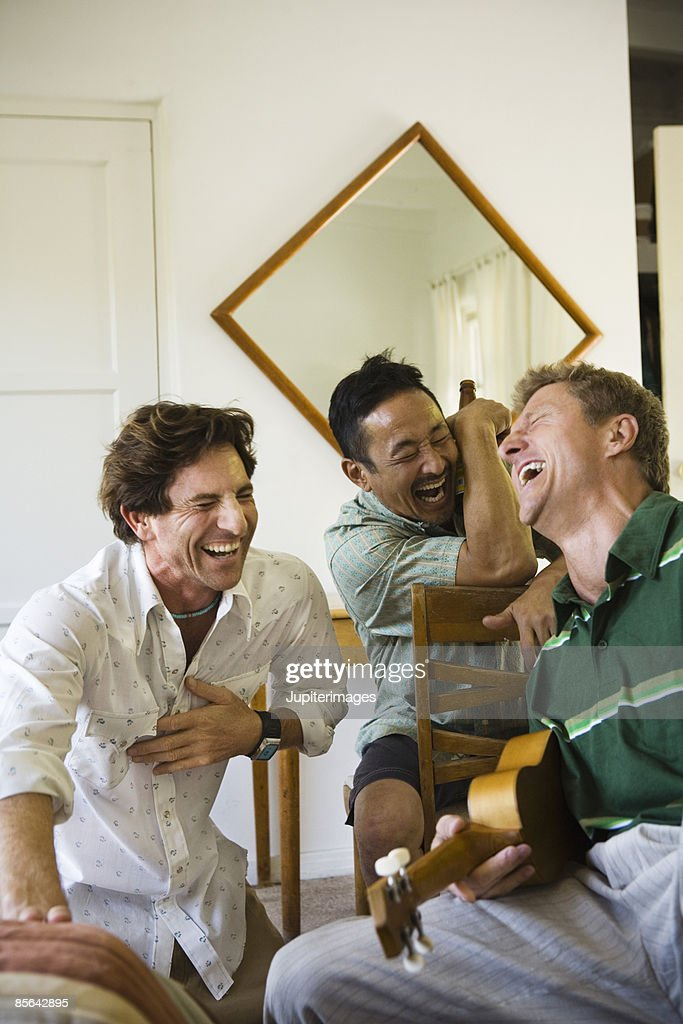 Men laughing and hanging out