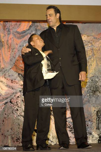 Men Nguyen and Brad Garrett during Bodogcom Presents Card Player's Player of the Year Awards Show and Cocktail Party at Henry Fonda Theatre in Los...