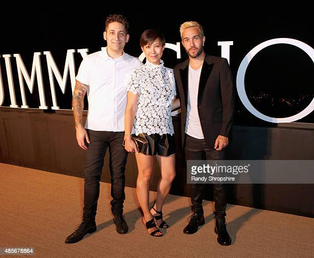 Men of Style honoree Joe Trohman Creative Director Jimmy Choo Sandra Choi and Men of Style honoree Pete Wentz attend the Billboard Jimmy Choo Music's...