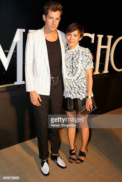 Men of Style honoree Mark Ronson and Creative Director Jimmy Choo Sandra Choi attend the Billboard Jimmy Choo Music's Men of Style at a Private...