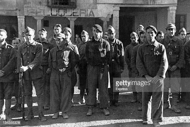 Men of the British Battalion of the XV International Brigade in Spain during the Spanish Civil War circa 1937