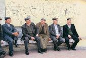Men of the town of Oliena Nuoro Province Sardinia Italy