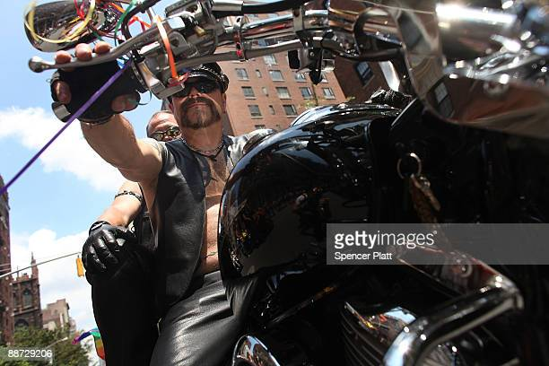 Men on motorcycles lead the annual New York City Gay Pride March on June 28 2009 in New York City This year�s march commemorates the 40th anniversary...