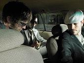 Männer, die ein taxi driver