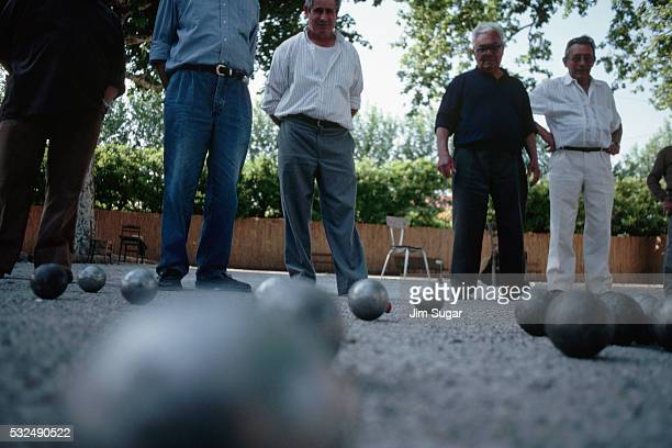 Men Playing Bacchi Ball