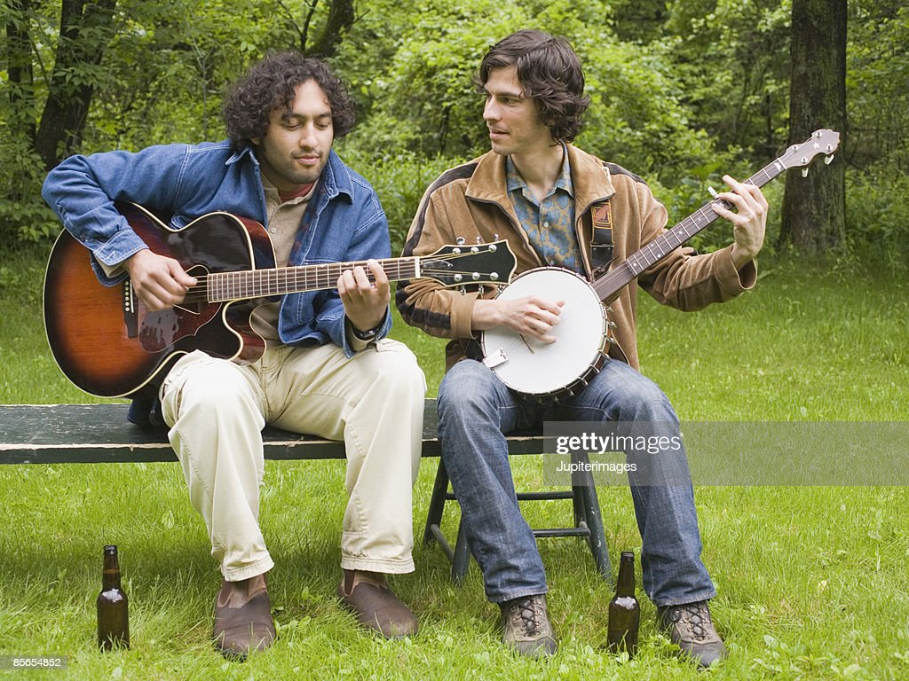 Men playing banjos