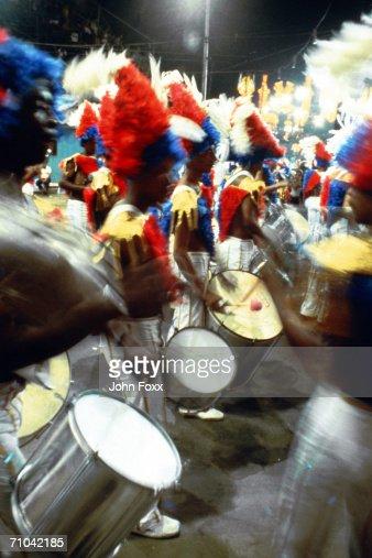 men playing drums : Stock Photo