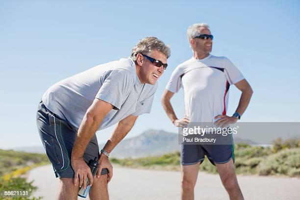 Entspannen Sie sich nach dem jogging für