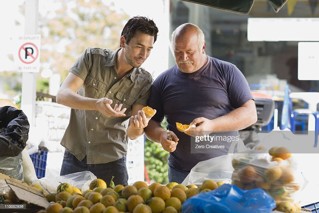 Men selling fruits