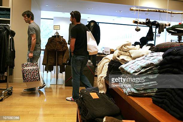 Men shop in the apparel retailer JCrew on November 23 2010 in New York City In a $3 billion deal J Crew Group Inc is close to an agreement to be...