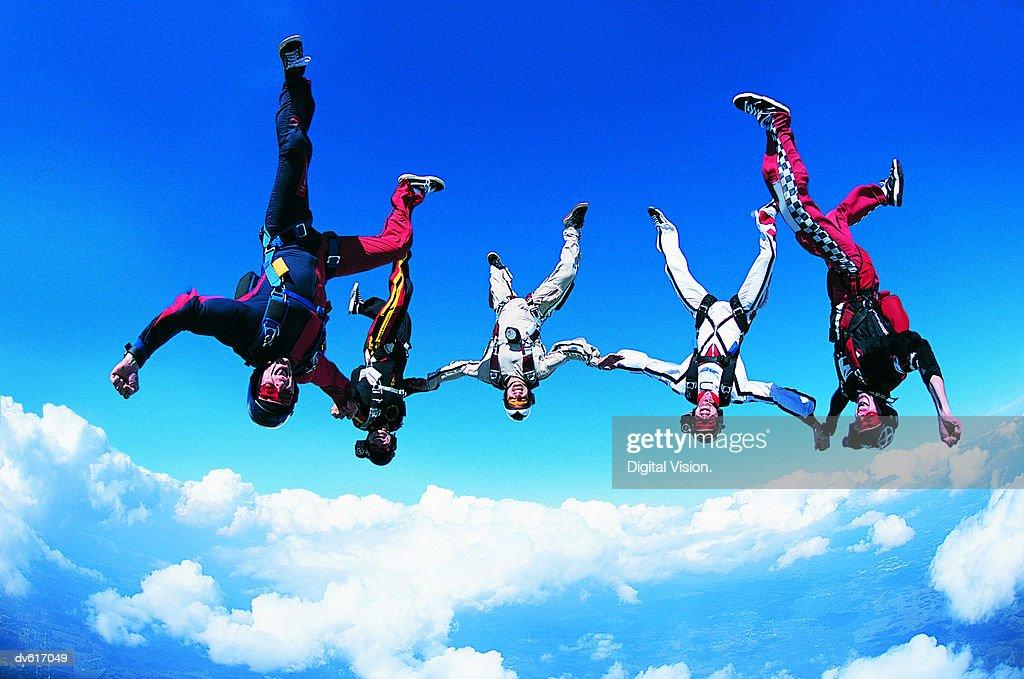 Men Skydiving
