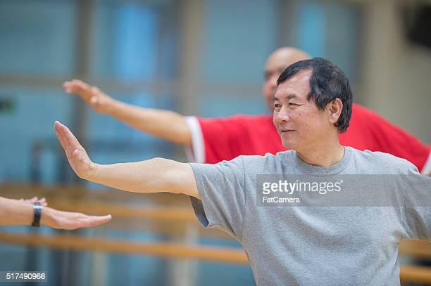 Men Taking a Yoga Class