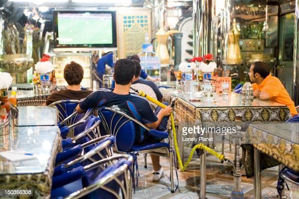 Men watching soccer on TV in Little Arabia, Th Sukhumvit.