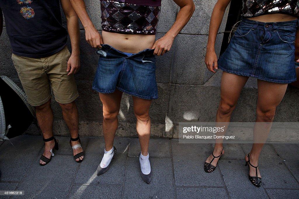 Men's High Heels Race During The Madrid Gay Pride Festival ...