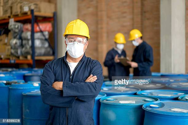 Men working at a chemical factory