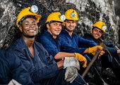 Men working at a mine