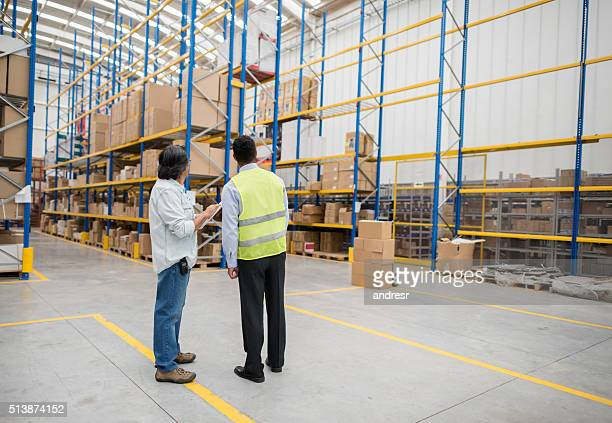 Men working at a warehouse