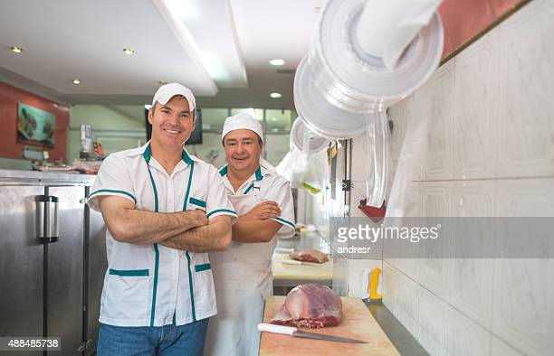 Men working at the butchery