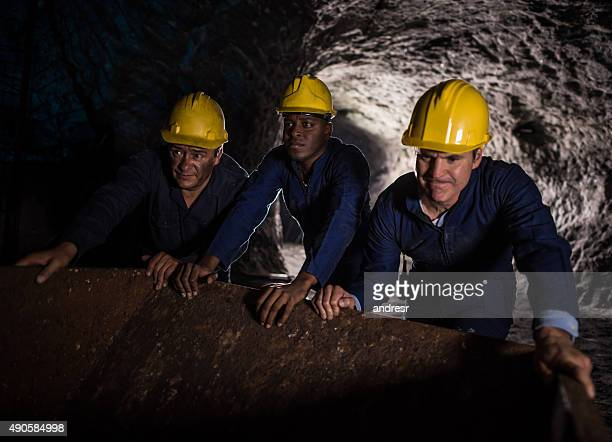 Men working in a mine