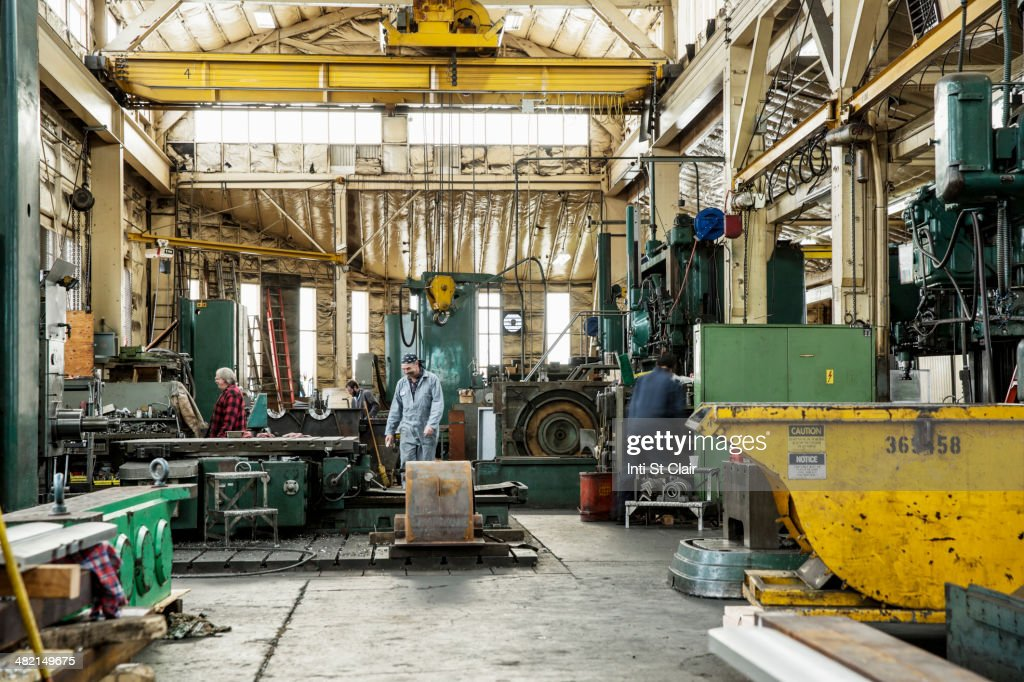 Men working in metal shop