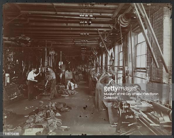 Men working in the Gould Eberhardt Foundry Newark New Jersey 1905