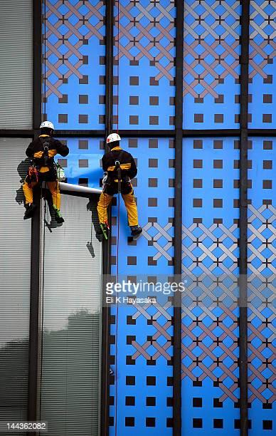 Men working on facade