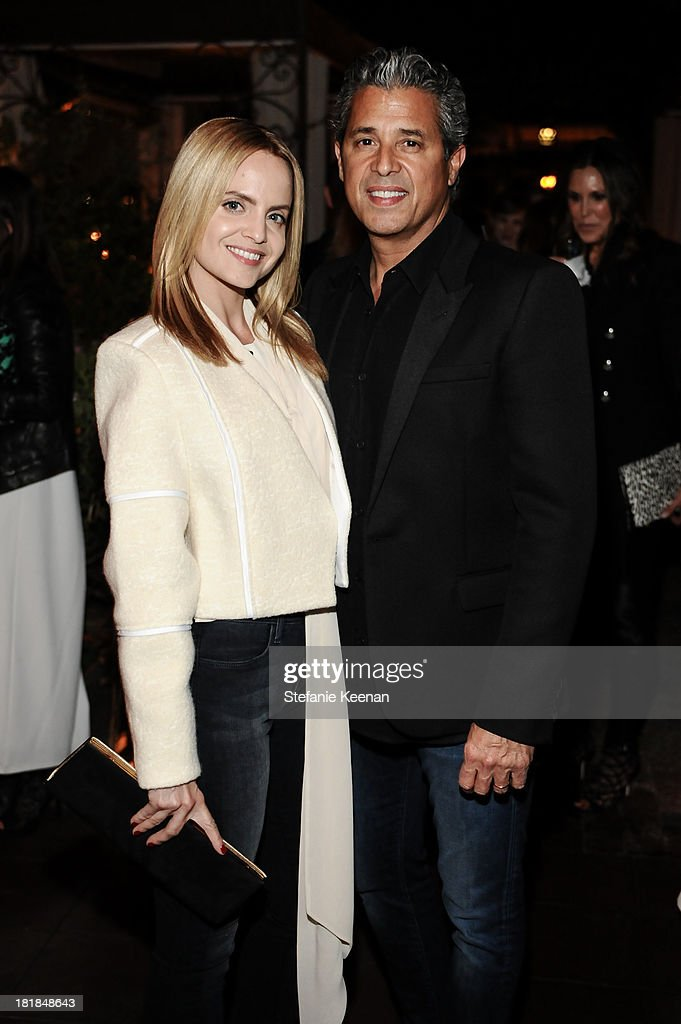 Mena Suvari and J Brand founder Jeff Rudes attend an intimate dinner event hosted by Elle magazine and J Brand at Petit Ermitage Hotel on September 25, 2013 in West Hollywood, California.