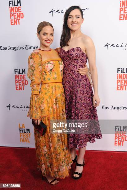 Mena Suvari and Lena Hall arrive at the 2017 Los Angeles Film Festival Premiere Of 'Becks' at Arclight Cinemas Culver City on June 15 2017 in Culver...