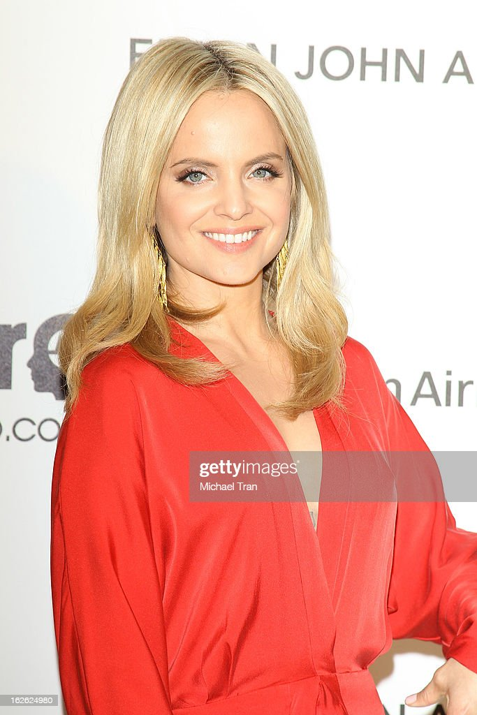 Mena Suvari arrives at the 21st Annual Elton John AIDS Foundation Academy Awards viewing party held at West Hollywood Park on February 24, 2013 in West Hollywood, California.