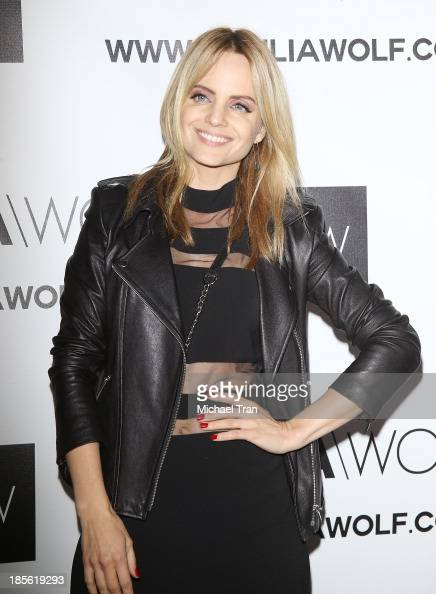 Mena Suvari arrives at the Dahlia Wolf launch party held at Graffiti Cafe on October 22 2013 in Los Angeles California