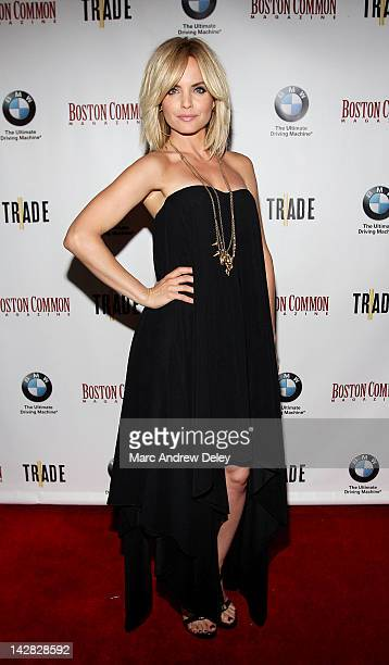 Mena Suvari at the Boston Common Magazine's Cover Party With Mena Suvari at TRADE Restaurant on April 12 2012 in Boston Massachusetts