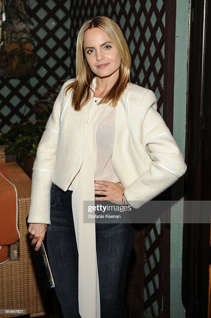 Mena Suvari attends an intimate dinner event hosted by Elle magazine and J Brand at Petit Ermitage Hotel on September 25, 2013 in West Hollywood, California.