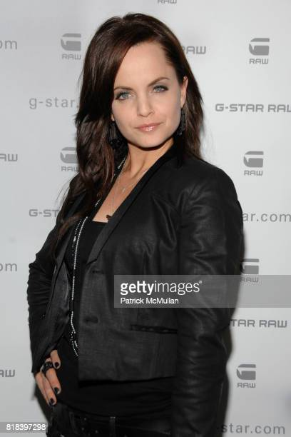 Mena Suvari attends GSTAR RAW Presents NY RAW Fall/Winter 2010 Collection Arrivals at Hammerstein Ballroom on February 16 2010 in New York City