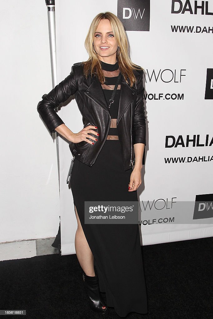 Mena Suvari attends the Dahlia Wolf Launch Party at Graffiti Cafe on October 22, 2013 in Los Angeles, California.