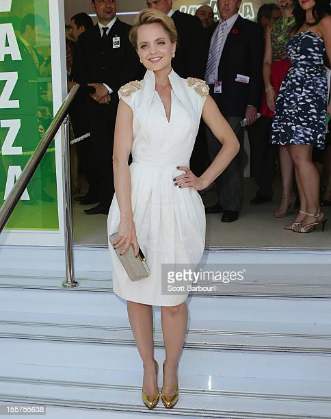 Mena Suvari attends the Lavazza marquee on Crown Oaks Day at Flemington Racecourse on November 8 2012 in Melbourne Australia