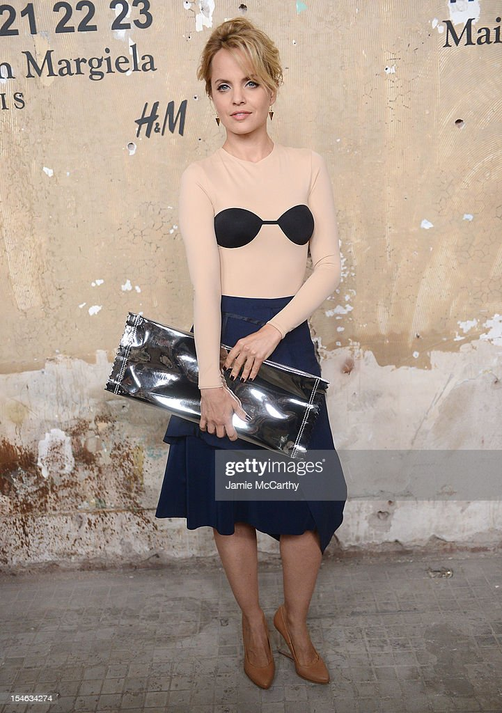 Mena Suvari attends the Maison Martin Margiela with H&M global launch event at 5 Beekman on October 23, 2012 in New York City.
