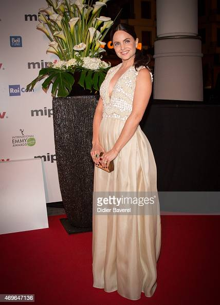 Mena Suvari attends the MIPTV 2015 opening party at Hotel Martinez on April 13 2015 in Cannes France